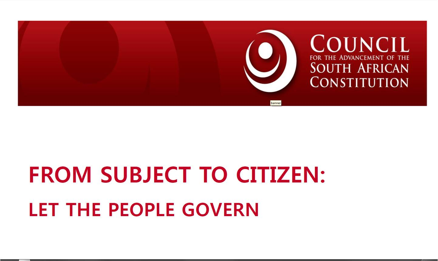 From subject to citizen: A review of the National Development Plan - Vision 2030