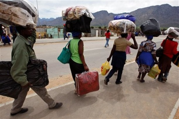 Zimbabwean migrants in De Doorns
