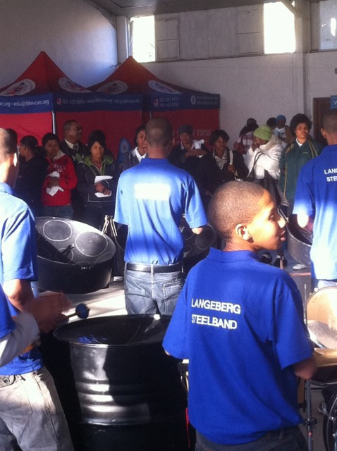 Langeberg Steel Band get things going